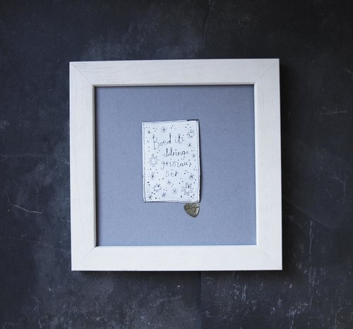 Boed iti... Plaque Frame — buddug