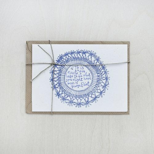 Riso Printed Lace Framed Cards — buddug