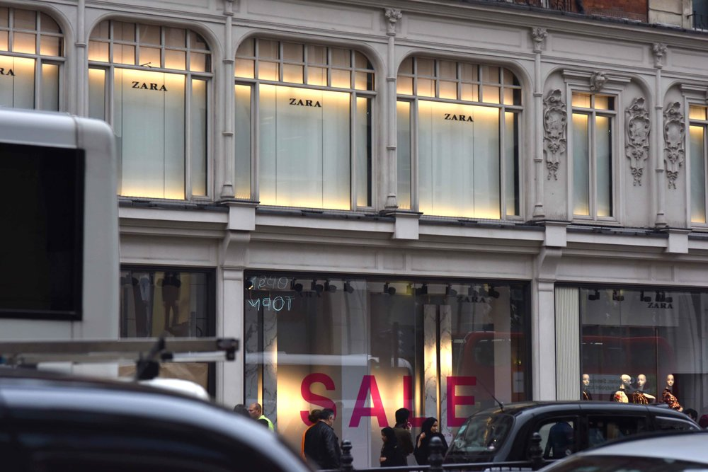 Zara, Knightsbridge, London, U.K. Image©thingstodot.com