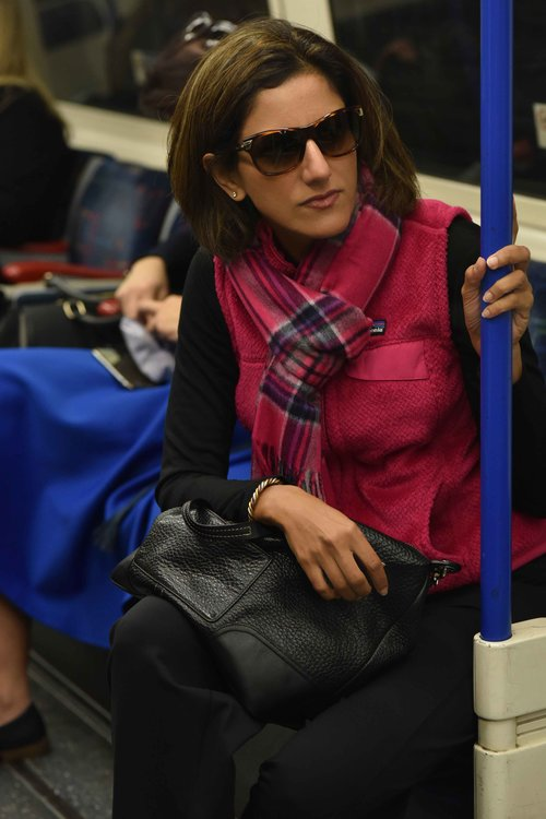 Me at the tube station, London Underground, U.K. Photo credit: Alizeh Latif Image©thingstodot.com