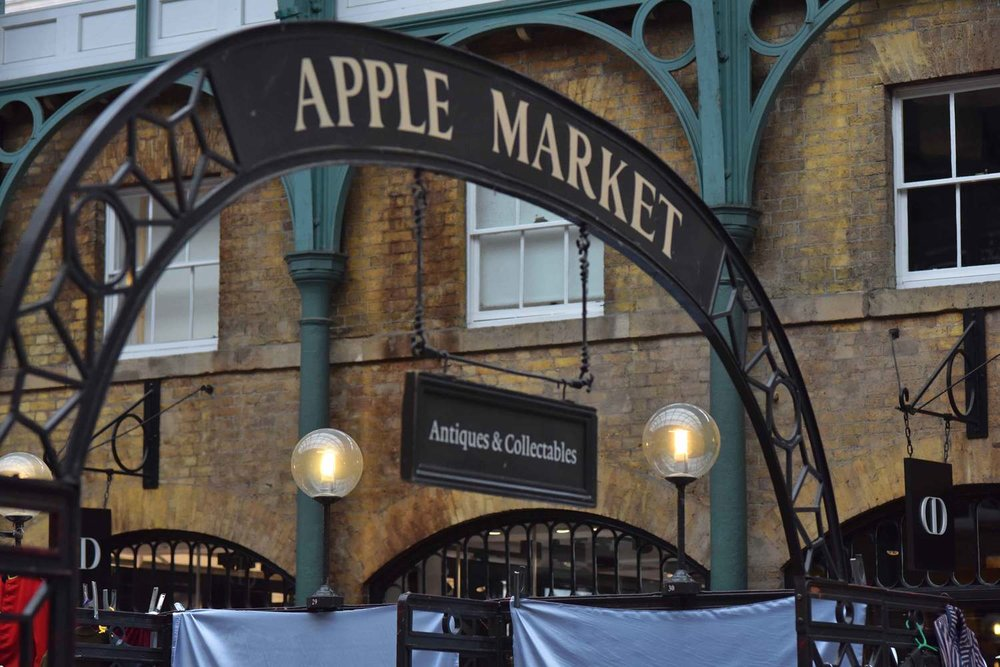 Covent Garden Apple Market, London, UK. Image©thingstodot.com