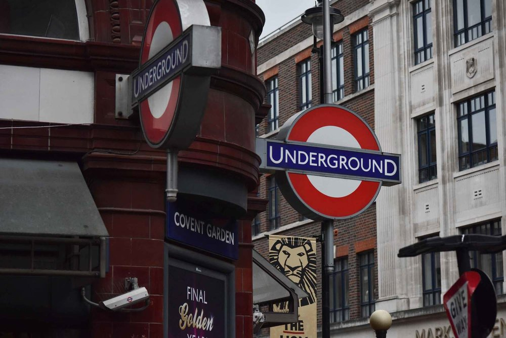 Covent Garden underground station, London, UK. Image©thingstodot.com