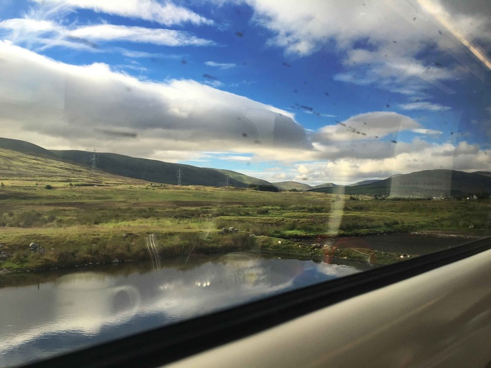 First Class, Virgin Trains East Coast, views from the train, Scottish Highlands, Scotland to London King's Cross. Image©thingstodot.com