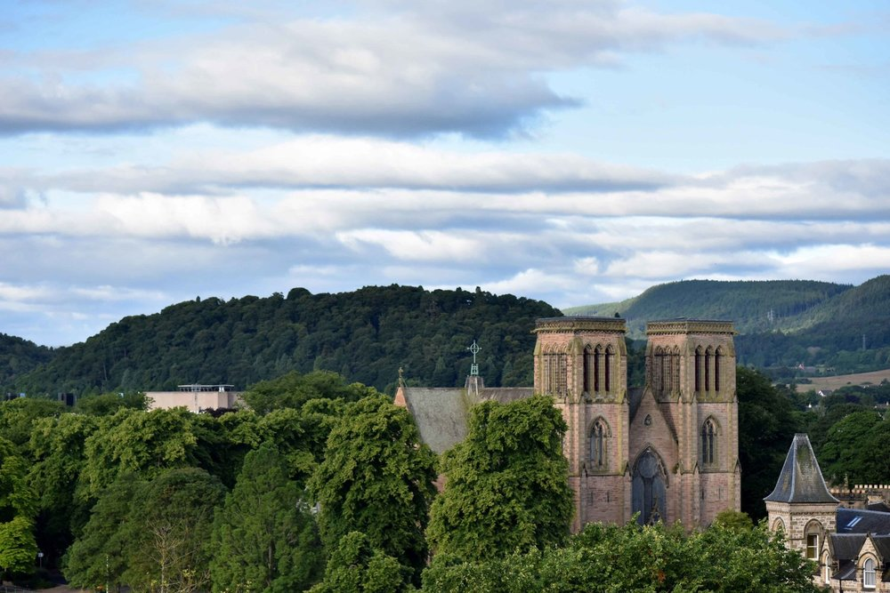Views of Inverness from Inverness Castle, Inverness, Scotland. Image©thingstodot.com