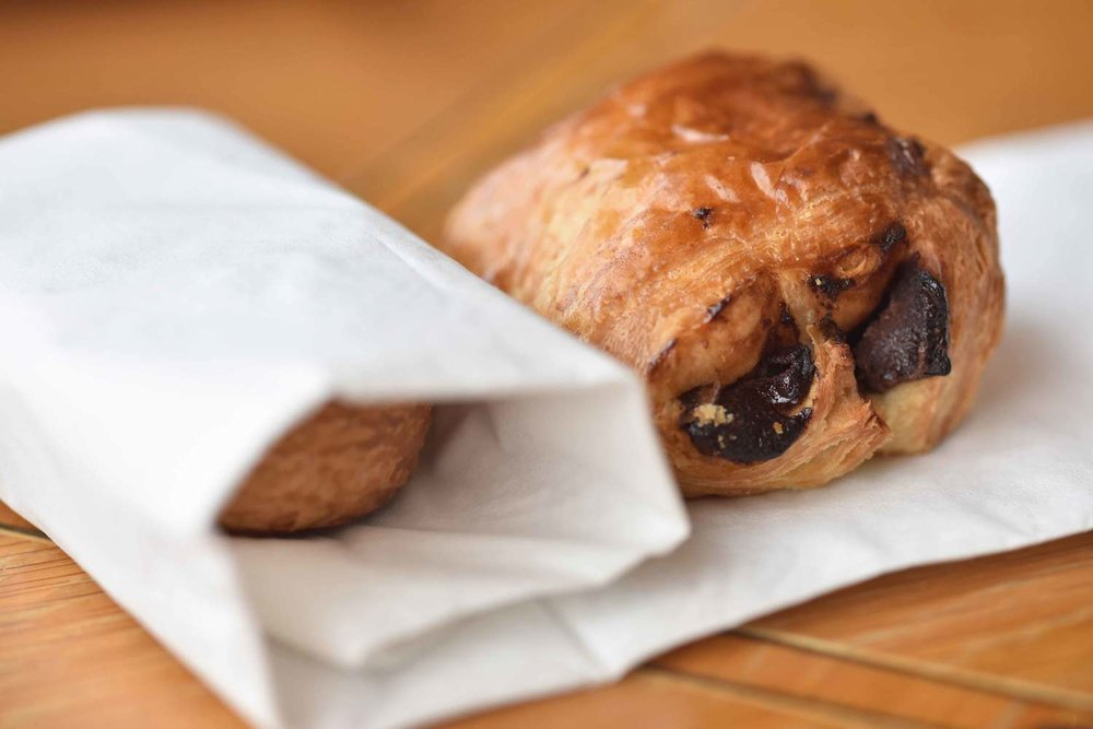 Chocolate croissants, breakfast buffet, Mercure hotel, Inverness, Scotland. Image©thingstodot.com