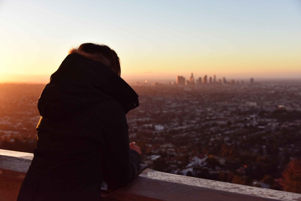 Sunrise from Griffith Park Observatory, Los Angeles, California. Image©thingstodot.com