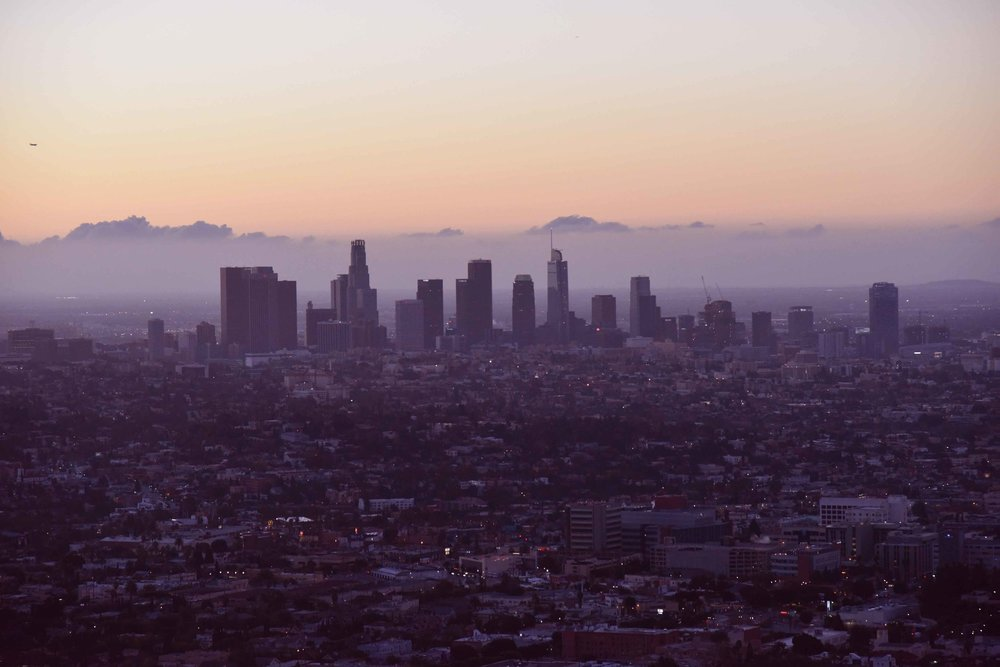 View of Los Angeles from Griffith Park Observatory. Image©thingstodot.com