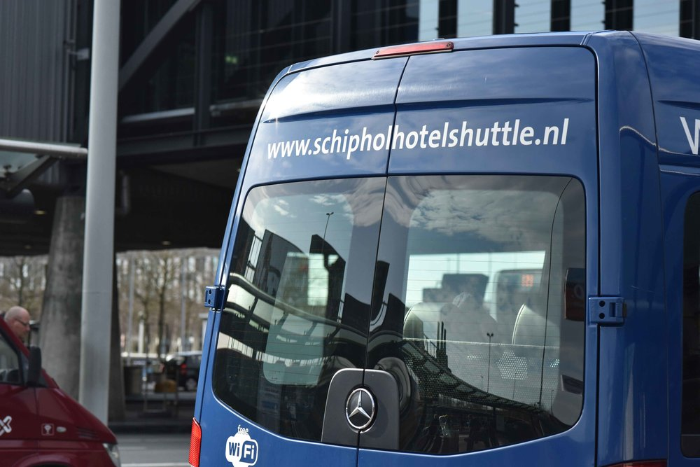 Shuttle service, Schiphol airport, Amsterdam. Photo: Gunjan Virk. Image©thingstodot.com