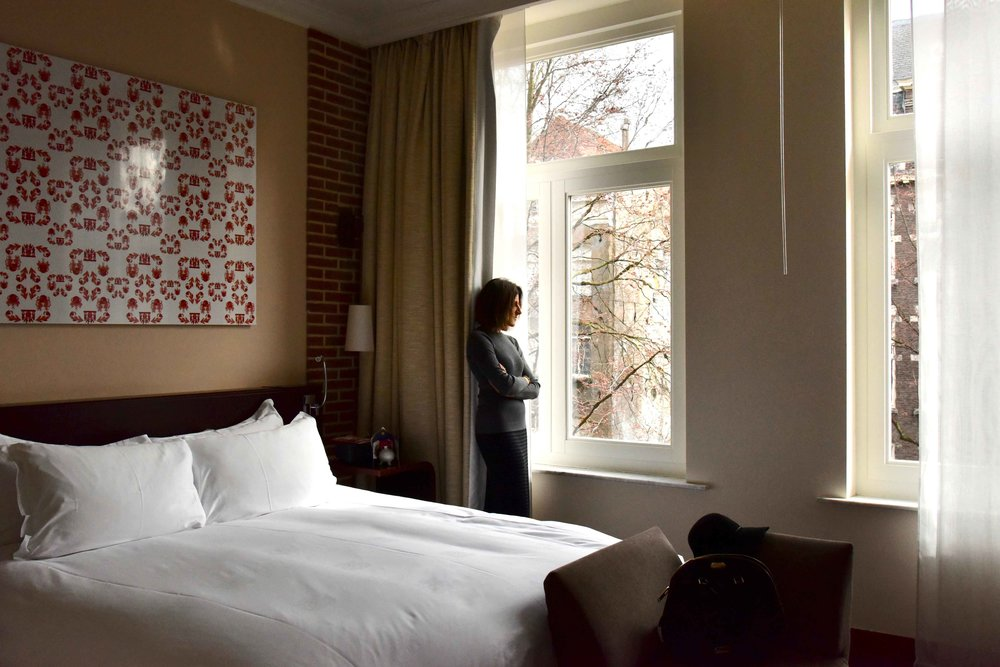 Superior room with canal view, Sofitel Legend Amsterdam The Grand. Image©thingstodot.com