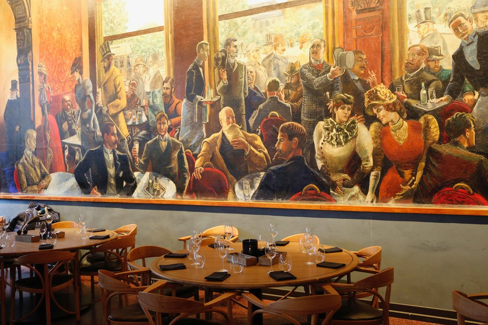 Krohg's painting, Grand Café, Oslo, Norway. Photo: Oslo Photo Tour. Image©thingstodot.com