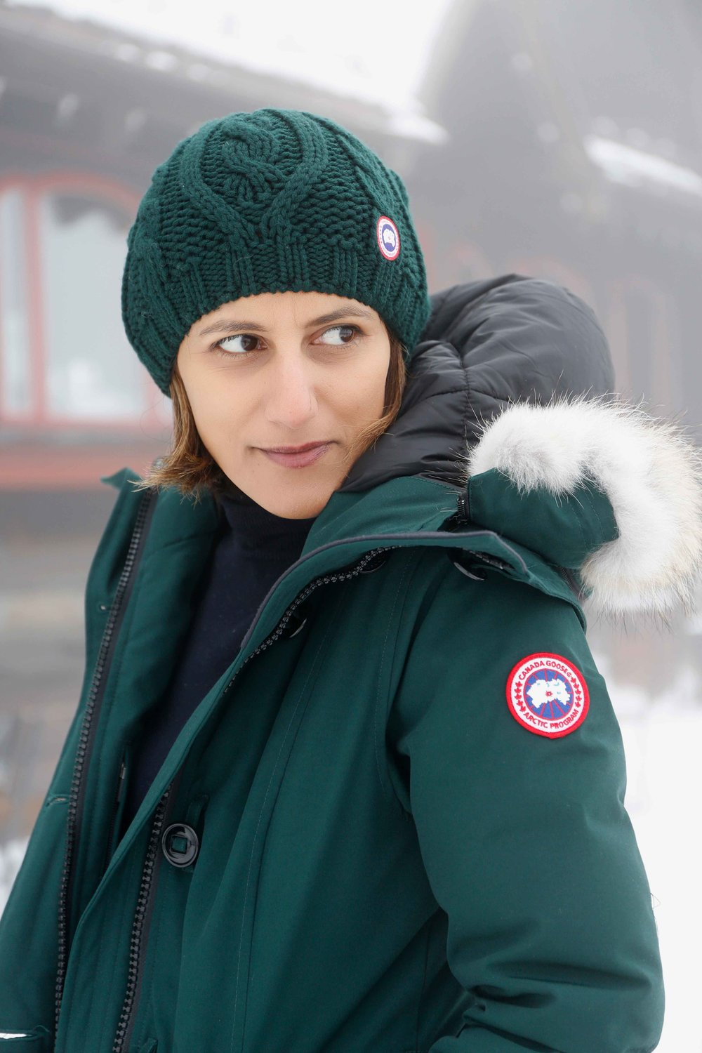 Canada goose Rossclair parka, Frognerseteren, Oslo, Norway. Photo: Oslo Photo Tour. Image©thingstodot.com