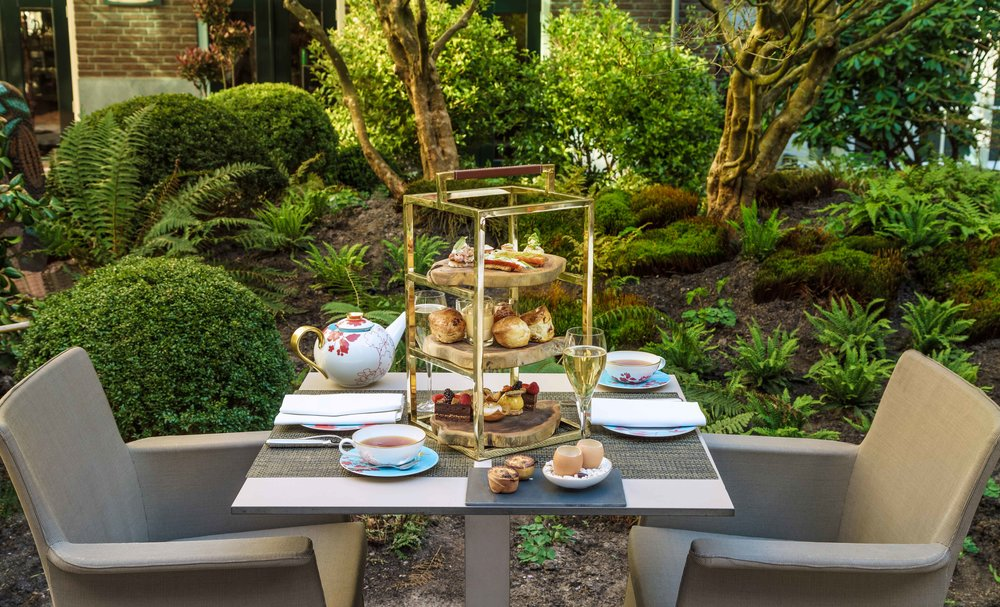 Afternoon Tea at garden terrace, Sofitel Legend Amsterdam The Grand. Photo: Sofitel Amsterdam