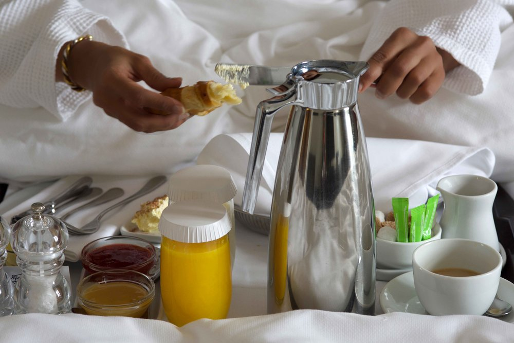 Breakfast in bed, Grand Hotel Oslo, Norway. Image©thingstodot.com