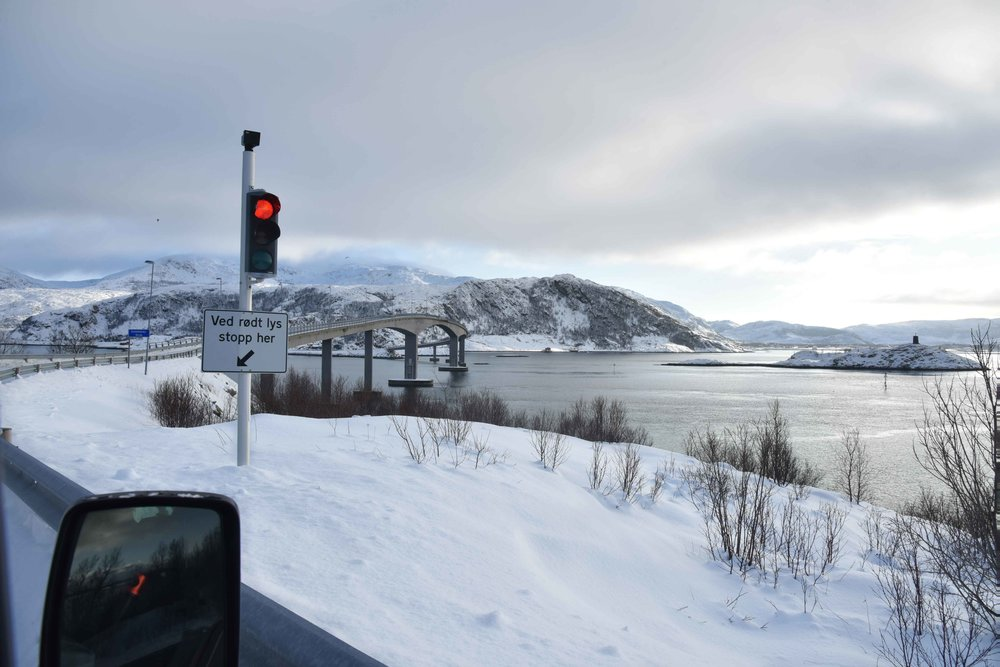 Driving to Sommarøy, near Tromso, Norway. Image©thingstodot.com