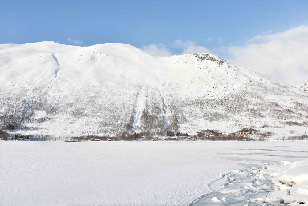 Norwegian fjords, frozen ocean, near Tromso, Norway. Image©thingstodot.com