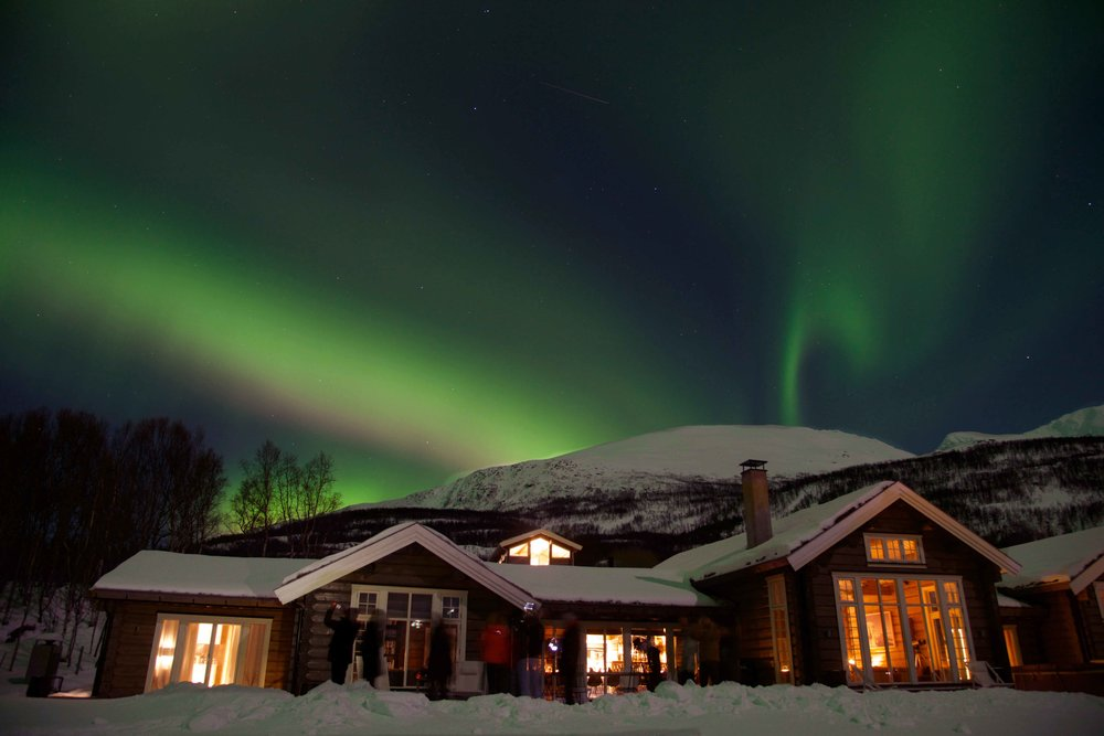 Northern lights, aurora borealis, Lyngen Lodge, northern Norway. Image©thingstodot.com