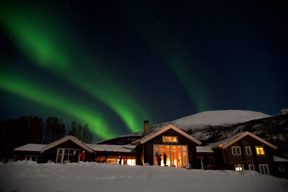Northern Lights, Aurora Borealis, Lyngen Lodge, Norway. Image©thingstodot.com