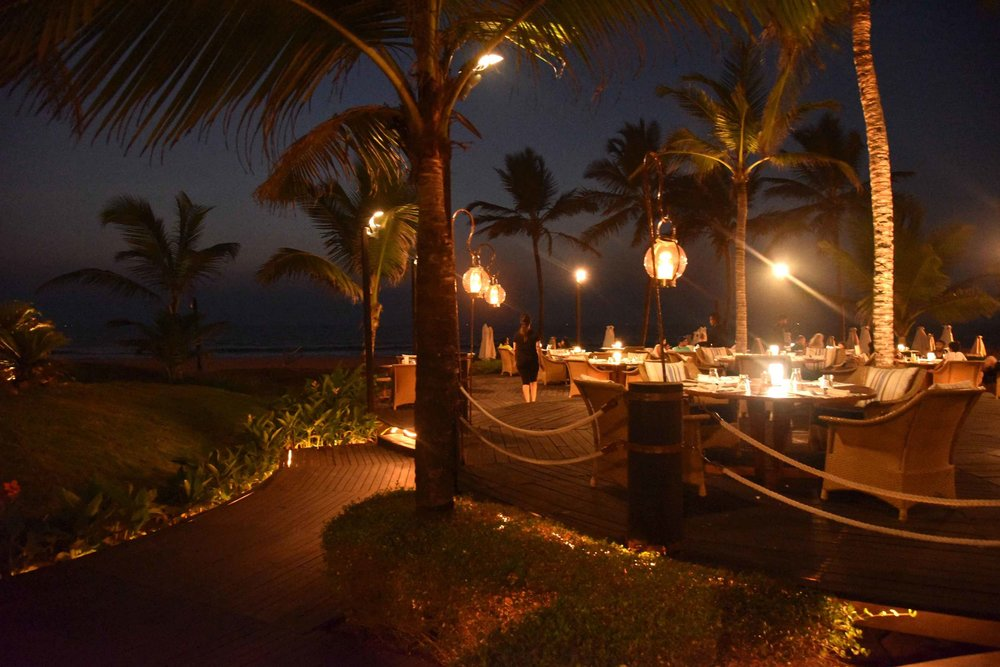Dining at Park Hyatt, Goa, India, 5 star hotel, luxury beach resort, spa. Image©thingstodot.com