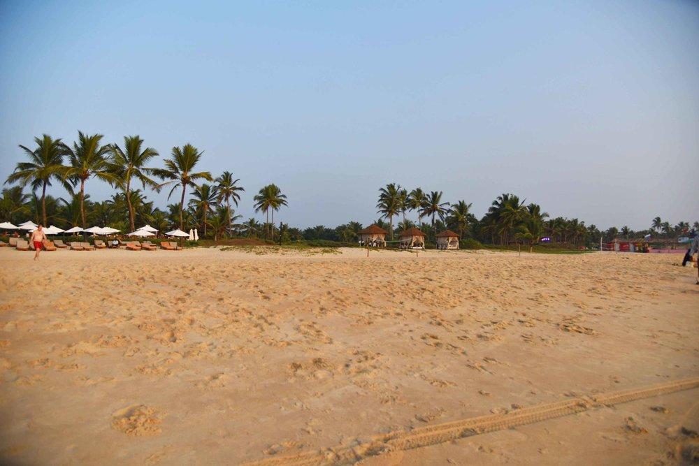 Private beach,Park Hyatt, Goa, India, 5 star hotel, luxury beach resort, spa. Image©thingstodot.com