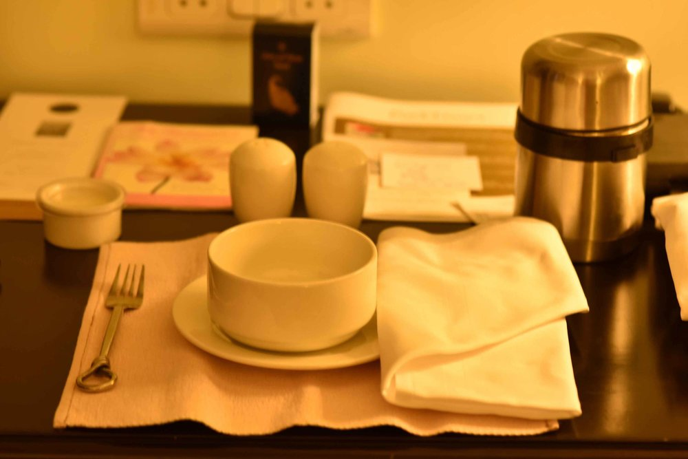In room dining, Park Hyatt, Goa, India, beach resort, luxury spa resort. Image©thingstodot.com