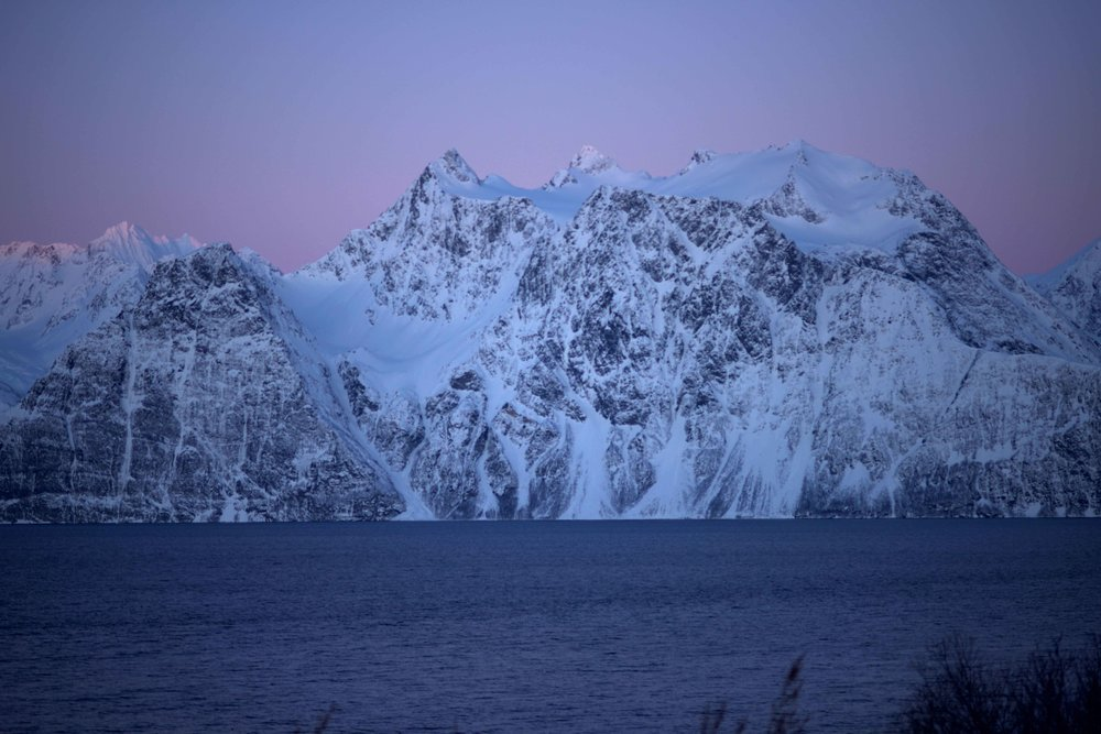 Sunrise on Lyngen fjords, Arctic Circle, Norway. Image©thingstodot.com