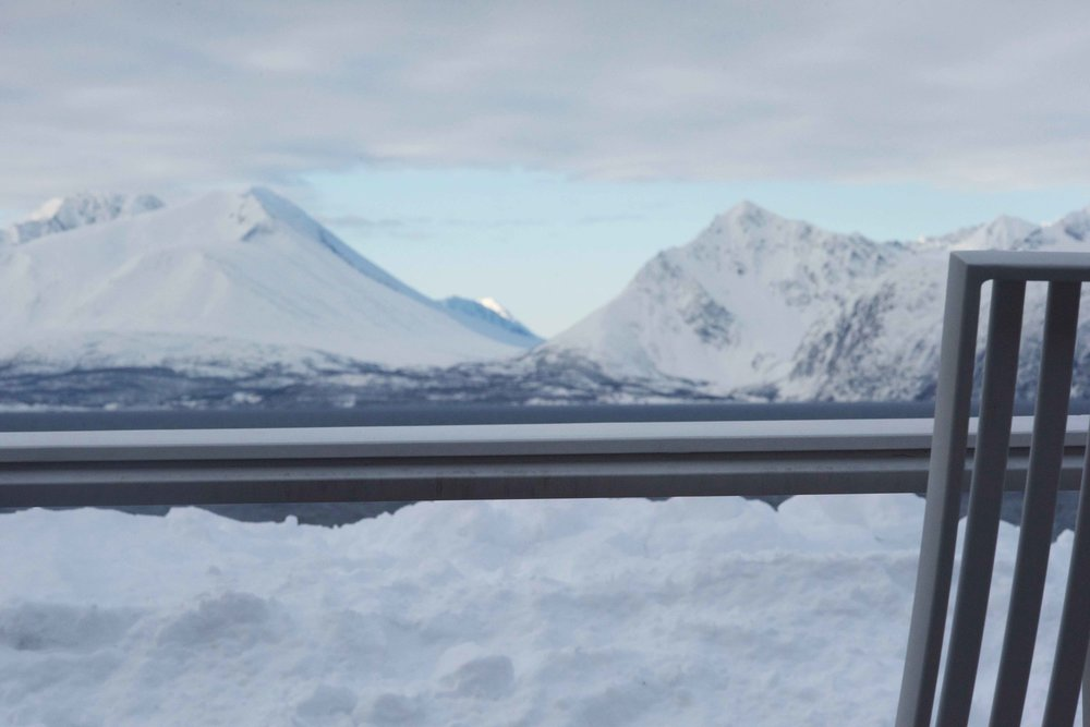 Views from Lyngen Lodge, Arctic Circle, Norway. Image@thingstodot.com
