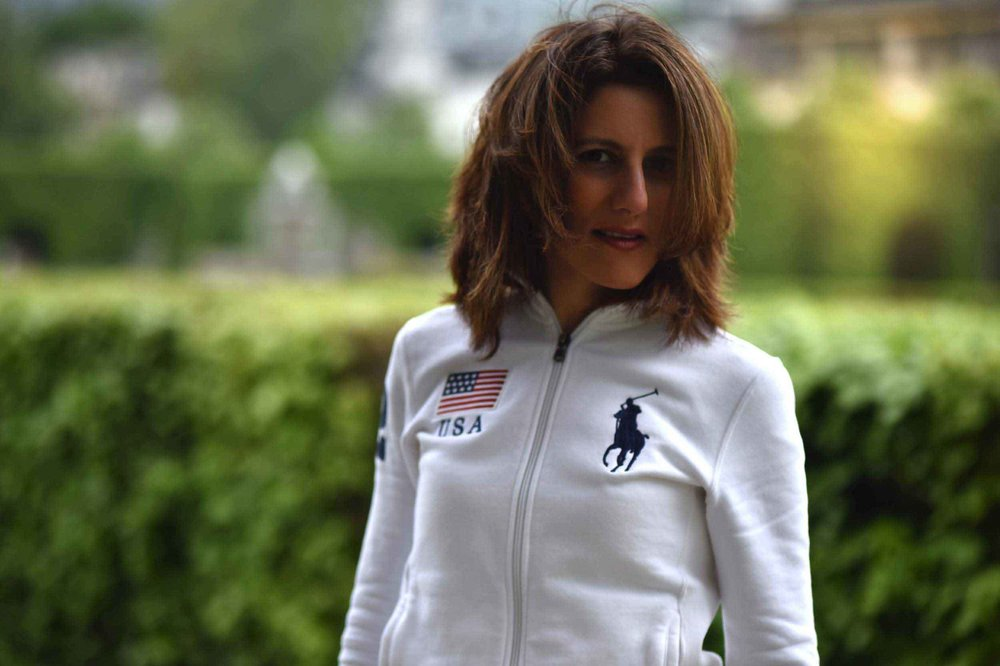 Polo Ralph Lauren, white fleece jacket. Image©thingstodot.com