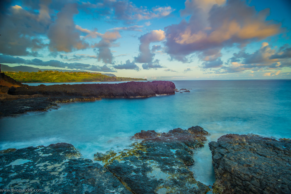Sunrise, Secret Beach, Kalihiwai, Kauai, Hawaii, USA. Image©www.thingstodot.com