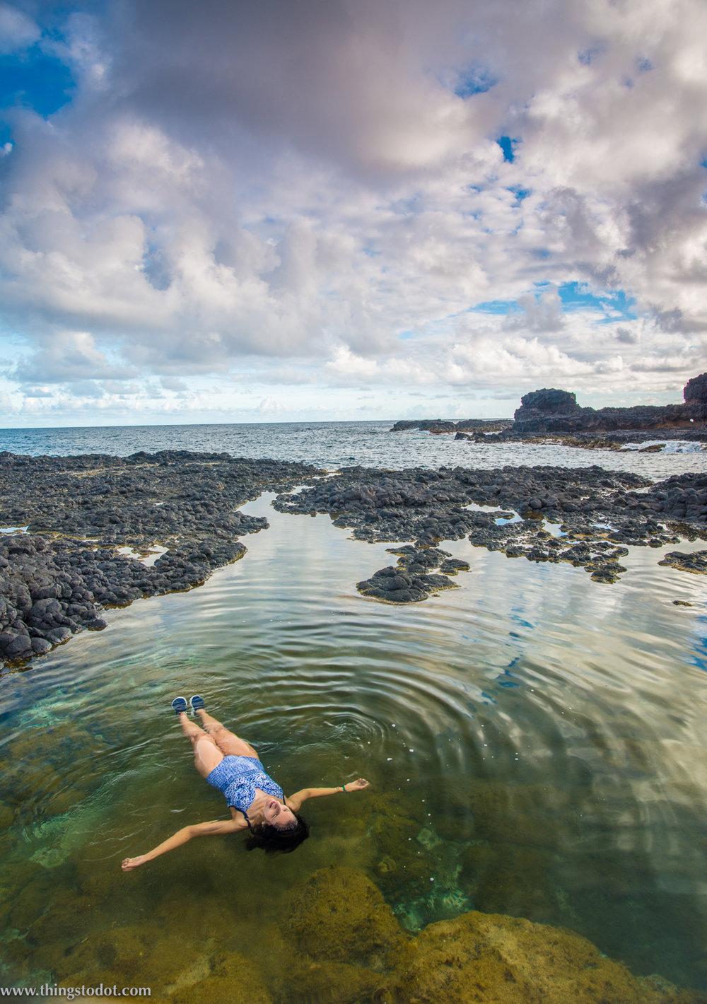 Secret Beach, tide pool, Kauai, Hawaii. Photo: Patrick Kelley, www.pk-worldwide.com. Image©www.thingstodot.com