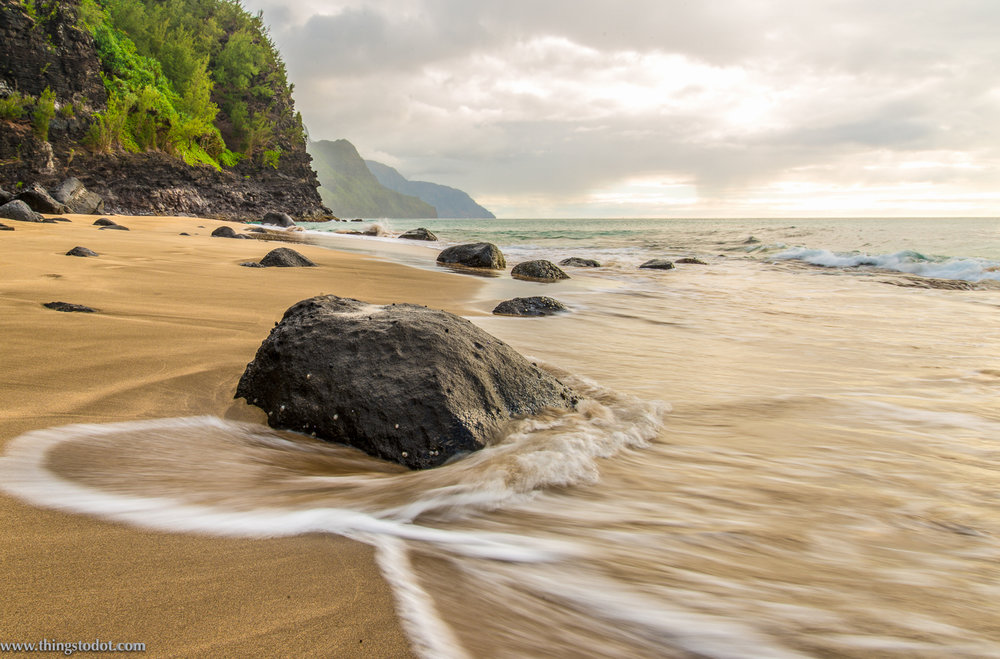 Ke'e beach, sunset, Kauai, Hawaii. Photo: Gerald Prickett. Image©www.thingstodot.com