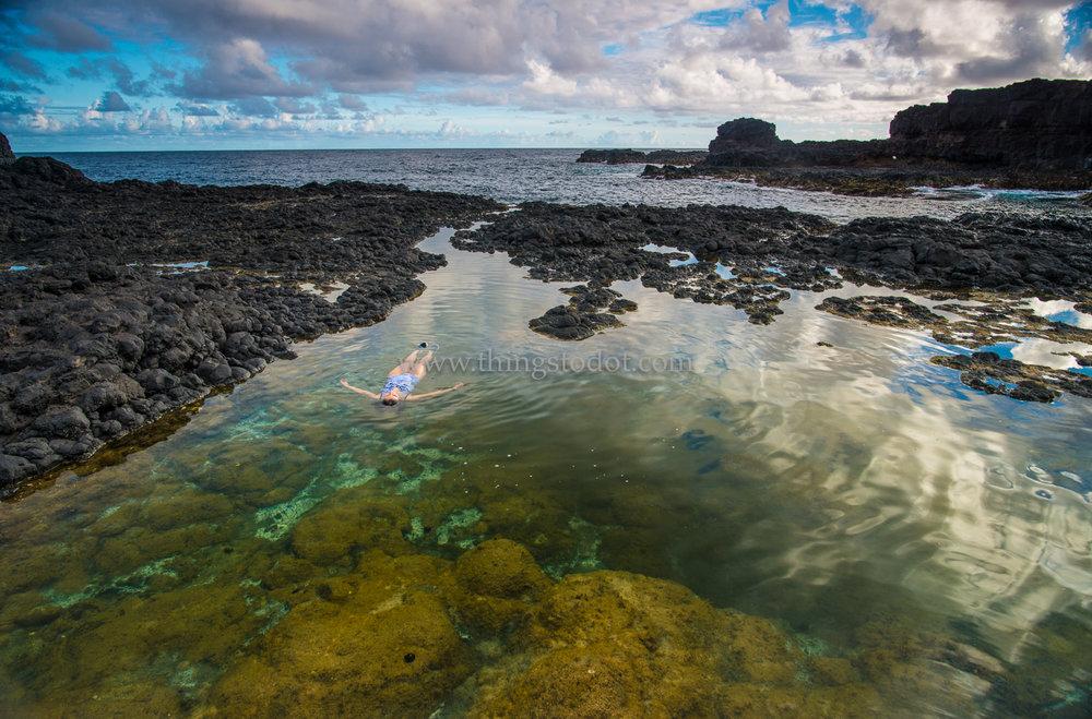 Secret Beach Tide Pool, Kauai, Hawaii.