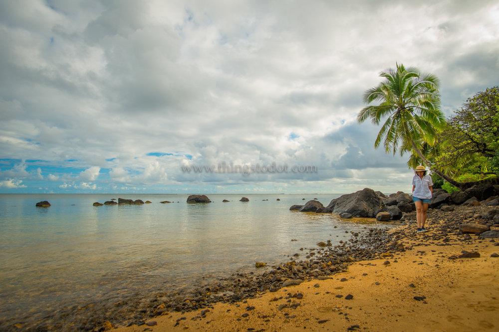 Anini Beach, Kauai, Hawaii.