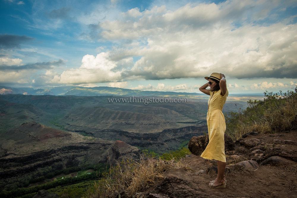 Waimea Canyon Lookout, Kauai, Hawaii.