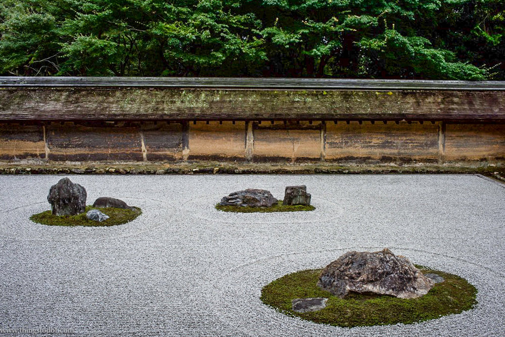 Ryoan-ji, Zen Temple, Rock Garden, Kyoto, Japan. A UNESCO World Heritage Site. Image©www.thingstodot.com