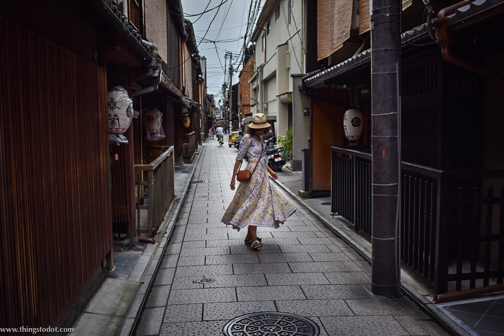 Gion, back alleys, Kyoto, Japan. Image©www.thingstodot.com
