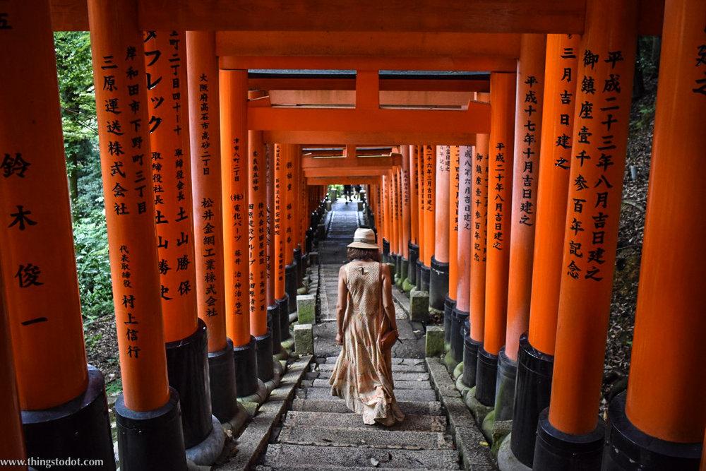 Fushimi Inari Shrine, Kyoto, Japan. Image©www.thingstodot.com