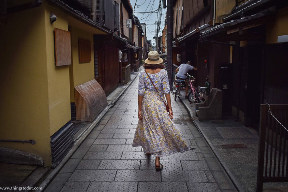 Gion, back alleys, Kyoto, Japan. Image©www.thingstodot.com.