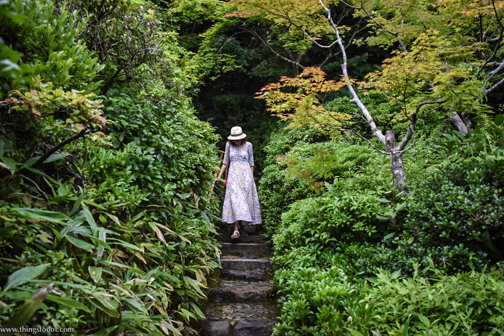 Okochi Sanso Villa, garden, teahouse, Kyoto, Japan. Image©www.thingstodot.com.