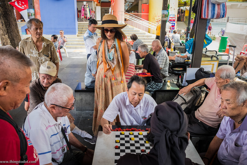 Chinatown, Singapore, chess game. Photo: Aik Beng Chia (ABC). Image©www.thingstodot.com.