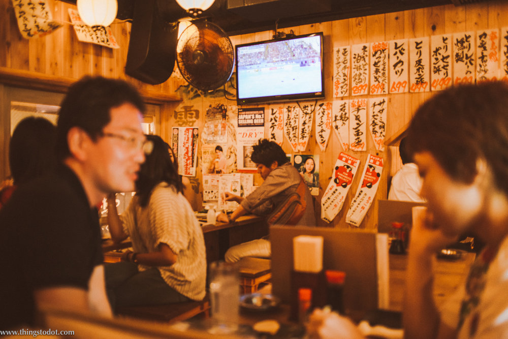 Izakaya, Shimbashi, Tokyo, Japan. Image©www.thingstodot.com.