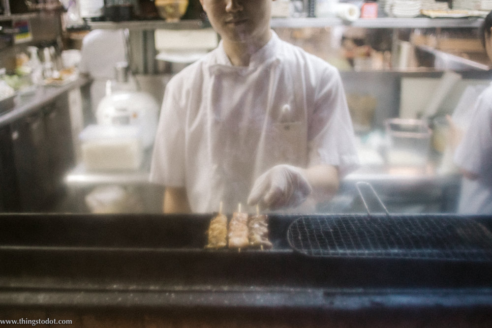 Kitchen in a Japanese Izakaya, Shimbashi, Tokyo, Japan. Image©www.thingstodot.com.