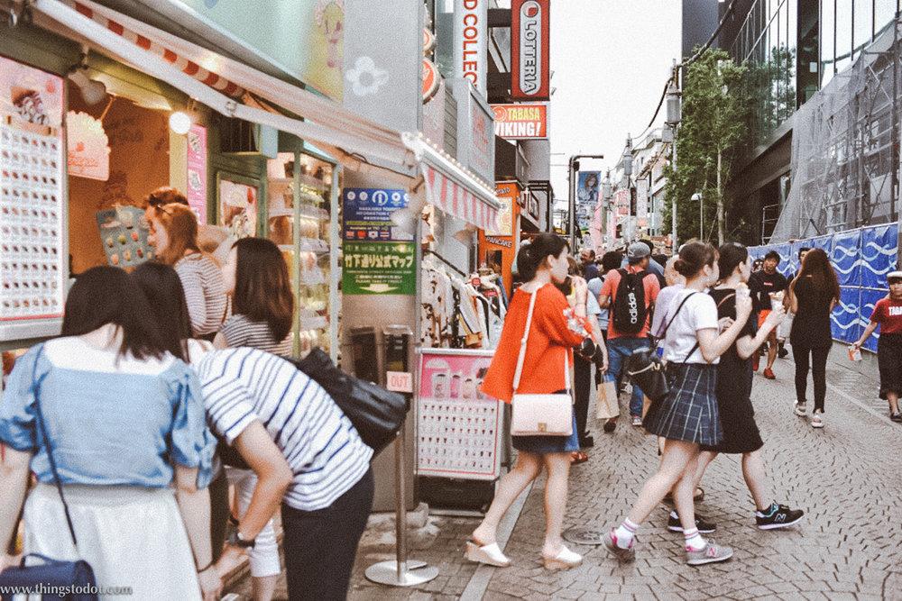 Takeshita Dori, Harajuku, Tokyo, Japan. Image©www.thingstodot.com.