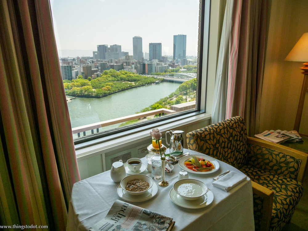 Imperial Hotel, Osaka, Japan, in-room breakfast. Photo: Gunjan Virk. Image©www.thingstodot.com.
