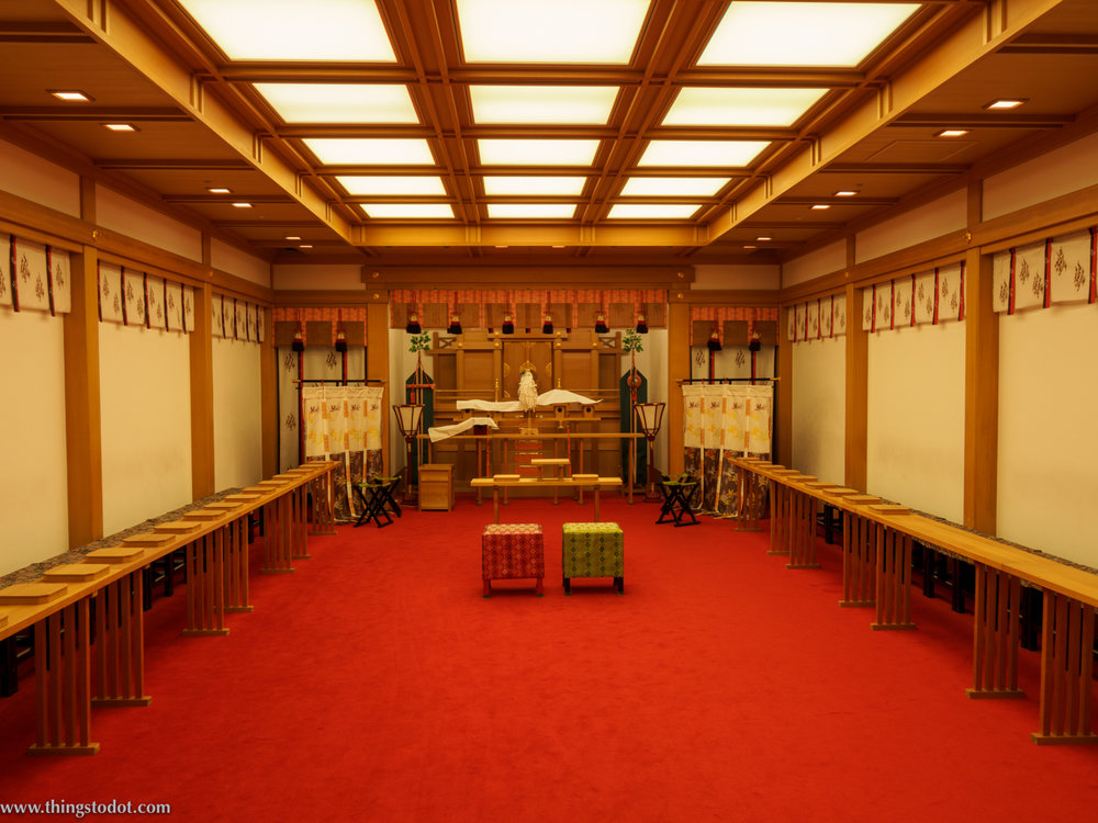 Japanese Wedding Chapel, Imperial Hotel, Osaka, Japan. Photo: Gunjan Virk. Image©www.thingstodot.com.