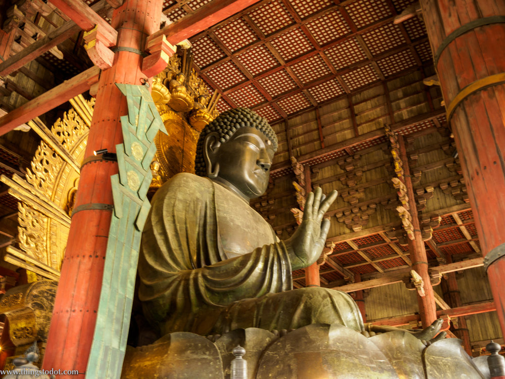 Todai-ji, Buddha Statue, Nara, Japan. Photo: Gunjan Virk. Image©www.thingstodot.com.