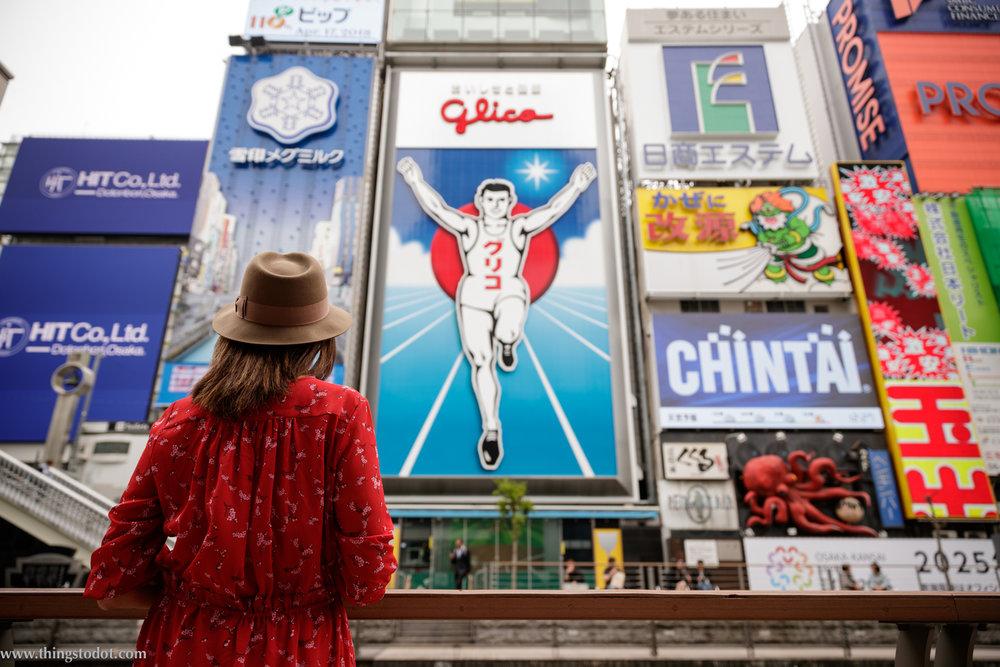 Dotonbori, Glico Runner,Osaka. Photo: Kosuke Arakawa (www.kosukearakawa.com). Image©www.thingstodot.com.