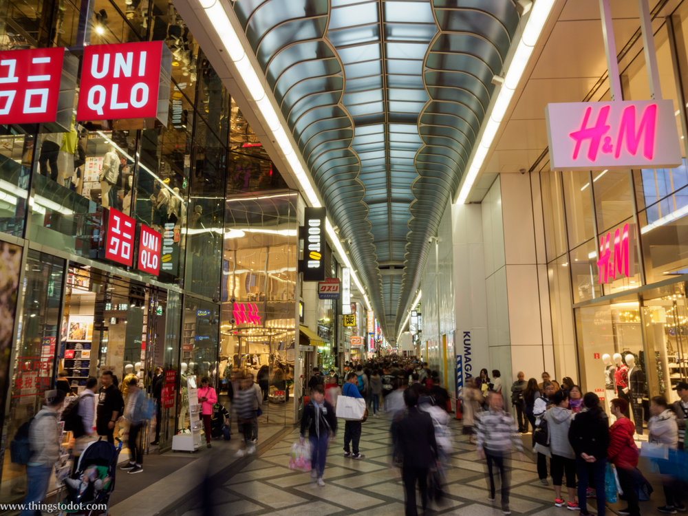 Shinsaibashi, Uniqlo, Osaka. Photo: Gunjan Virk. Image©www.thingstodot.com.