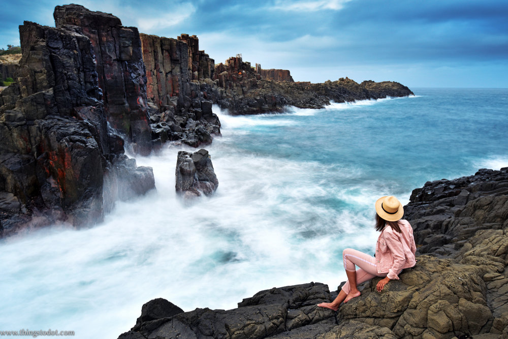 Bombo Quarry, Kiama, NSW, Australia. Photo: Brad Chilby (http://chilby.com.au). Image©www.thingstodot.com. Clothes: https://www.cream-clothing.com.