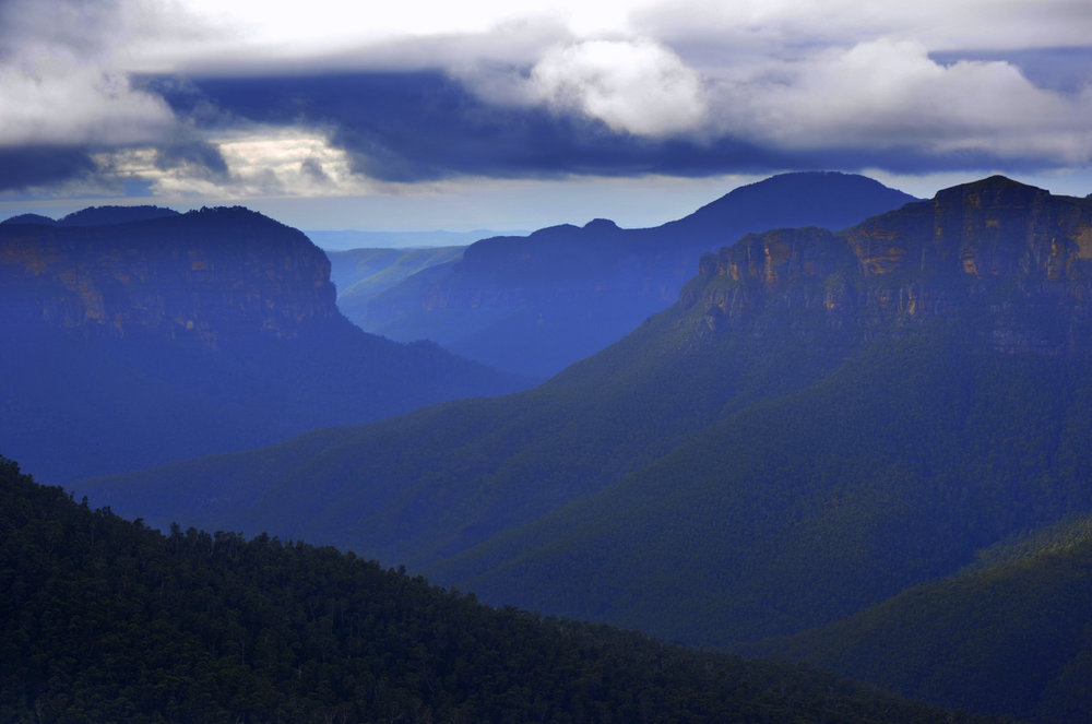 Blue Mountains, Govetts Leap Lookout,New South Wales, Australia. Photo: Brad Chilby (www.chilby.com.au). Image©Chilby Photography.
