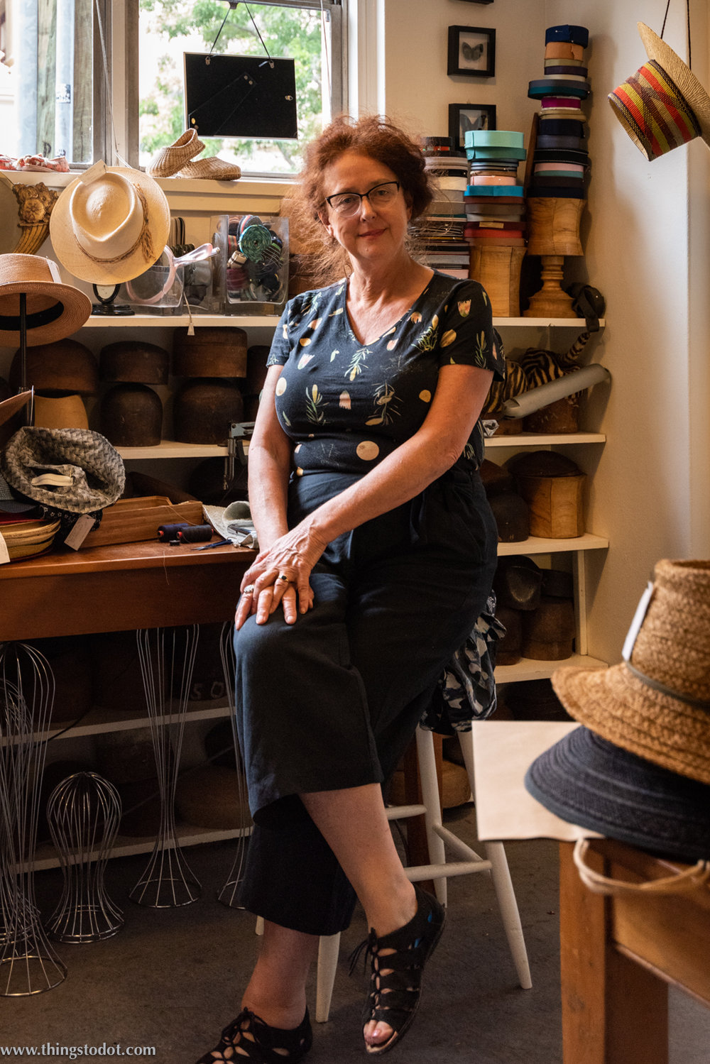 Rosie Boylan, hat maker, Sydney. Photo: Gunjan Virk. Image©www.thingstodot.com.
